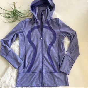 Lululemon Stride Jacket w/hood size 10 purple